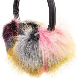 Colorful Furry Ear Muff's with Leather Band